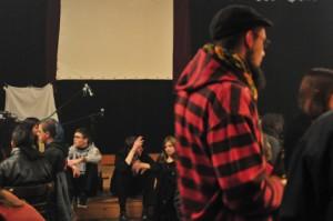 offene Fragerunde mit dem Publikum auf der Bühne